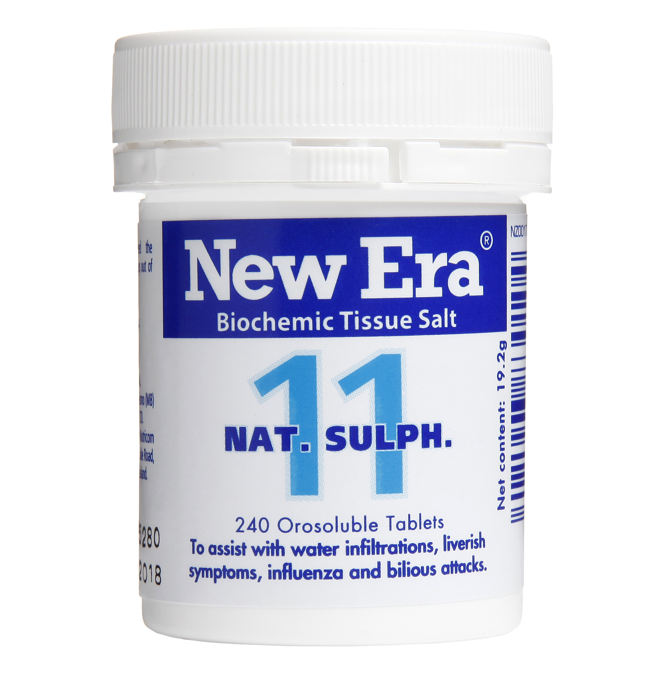 New Era No 11 Nat Sulph Mineral Cell Salts