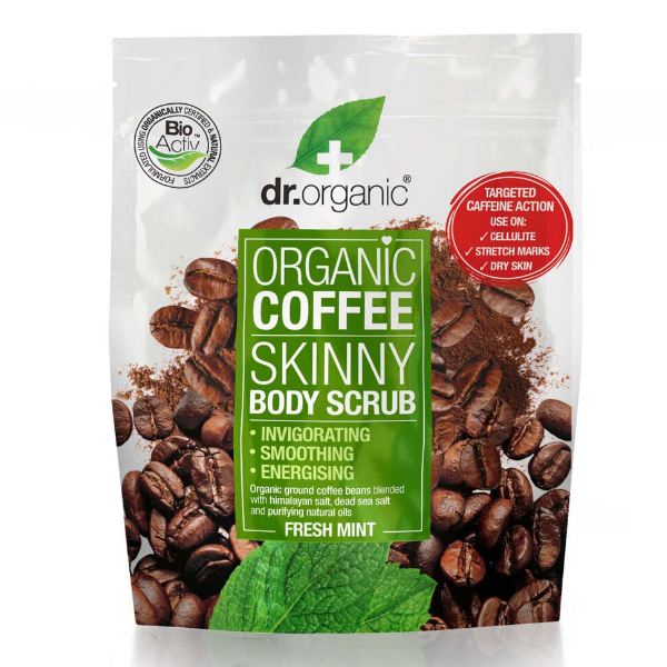 Dr.Organic Coffee Mint Body Scrub Pouch