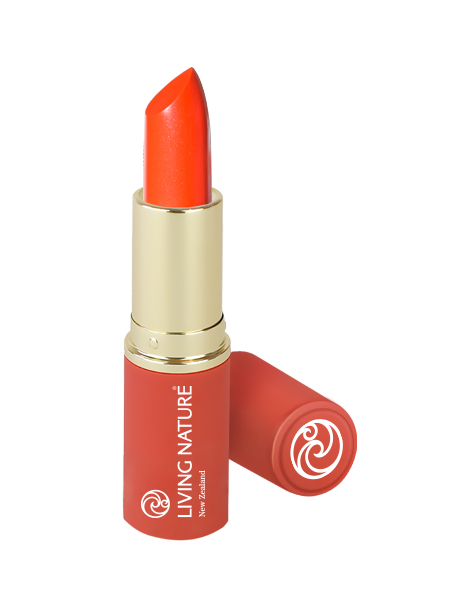 Living Nature Lipstick - Electric Coral - NEW Limited Edition