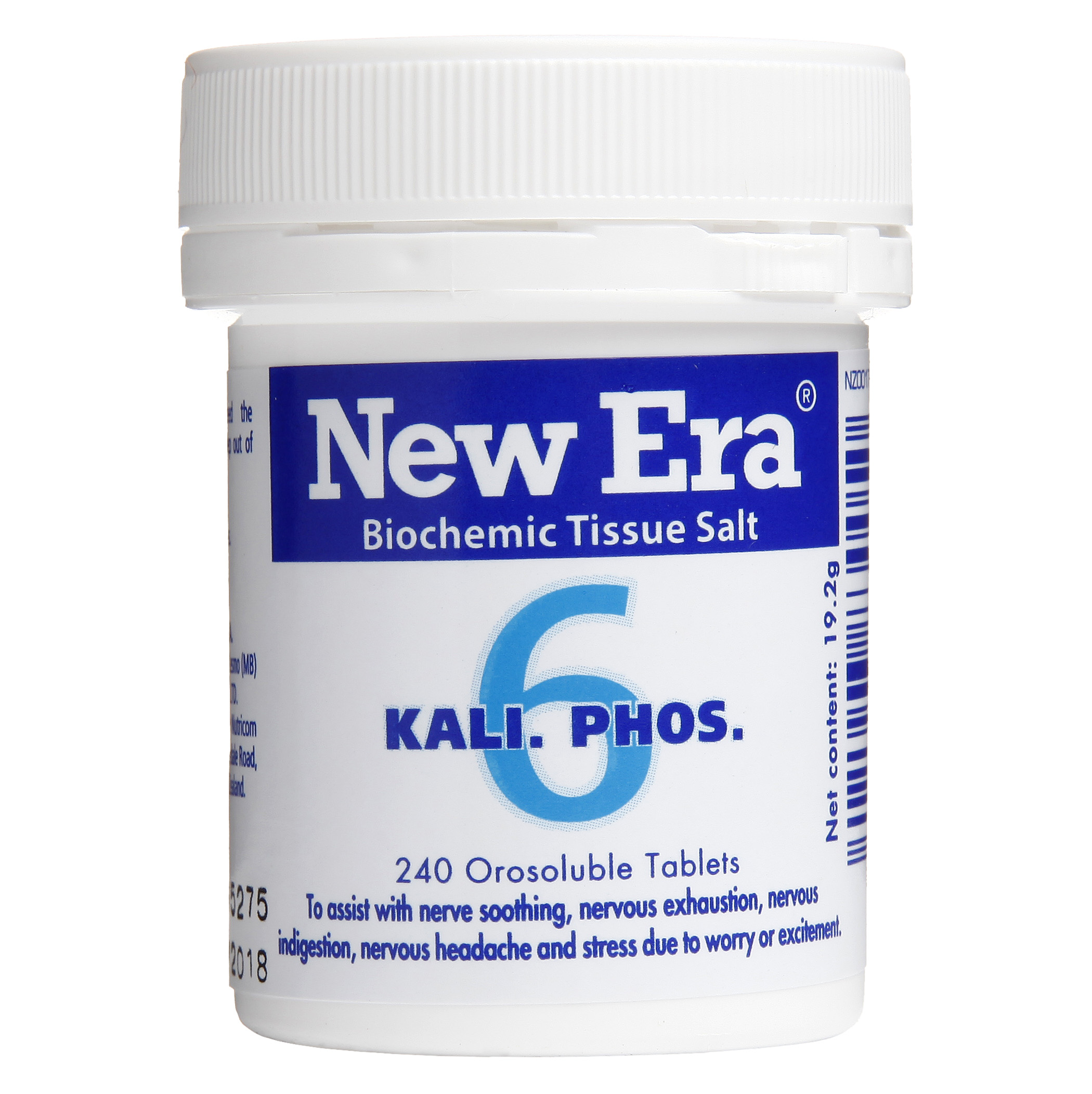 New Era No 6 Kali Phos Mineral Cell Salt