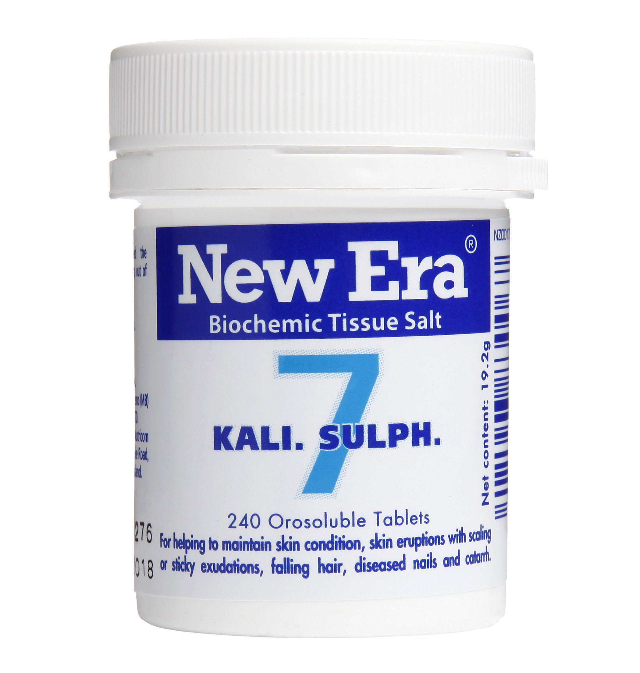 New Era No 7 Kali Sulph Mineral Cell Salt
