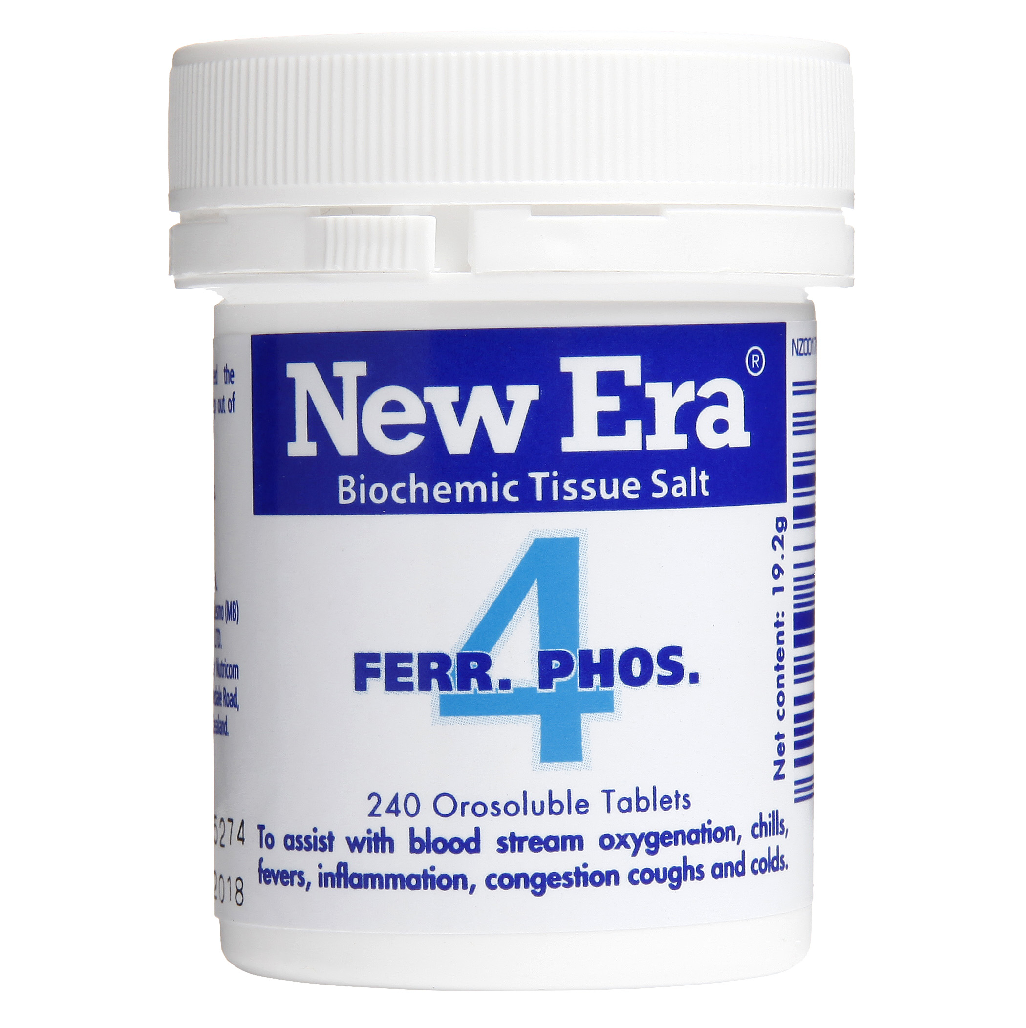 New Era No 4 Ferr. Phos Mineral Cell Salt
