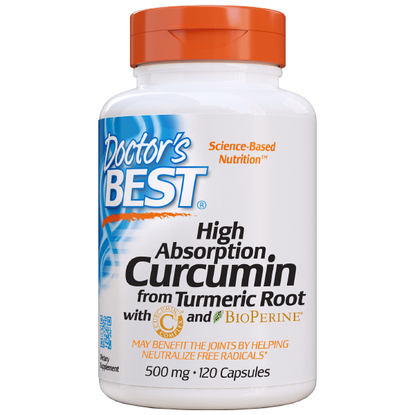 Doctor's Best - High Absorption Curcumin with BioPerine 500mg