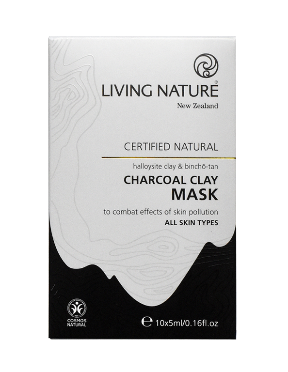 Living Nature Charcoal Clay Mask - Certified Natural