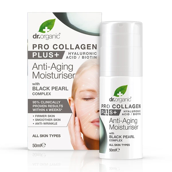 Dr.Organic Pro Collagen+ Anti-Aging Moisturiser With Black Pearl Complex